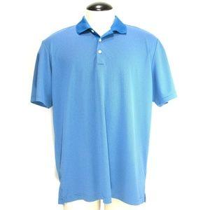 Adidas Golf - Polo Rugby Shirt - Blue Stripe Sz XL
